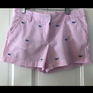 Girl's Pink and White Whale Shorts